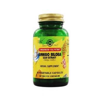 Solgar Ginkgo Biloba Leaf Extract V 60 Capsules