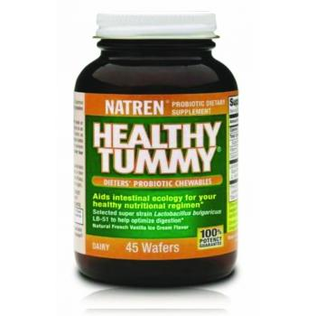 PREORDER Natren Healthy Tummy (Bulgaricum)- Dairy (45 chewable wafers) New stock arriving approx 23 April 2021. Expiry date 28/2/2022. You may preorder now.