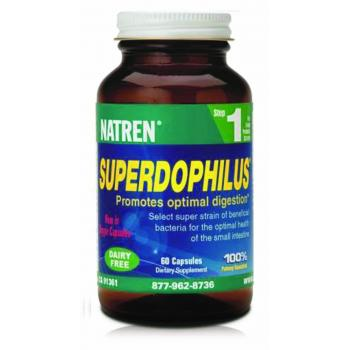 Natren Superdophilus - Dairy Free STEP ONE (60 capsules) Expiry Date 30/4/21.New stock arriving approx 23 April 2021. You may preorder now.