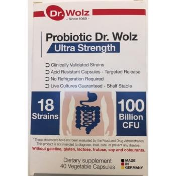 Probiotic Dr Wolz Ultra Strength  40 Capsules Expiry Date 01/2022